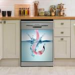 Flamingo Fun Dishwasher Cover Sticker Kitchen Decor