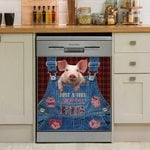 Just A Girl Who Loves Pig Dishwasher Cover Sticker Kitchen Decor