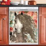 Horse Floral Retro Dishwasher Cover Sticker Kitchen Decoration