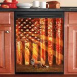 Hunting Fox At Sunset Dishwasher Cover Sticker Kitchen Decor