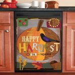 Happy Harvest To You And Yours Dishwasher Cover Sticker Kitchen Decor