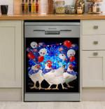 Funny Chicken Happy Australia Dishwasher Cover Sticker Kitchen Decor