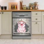 Farmhouse Piglet Welcome Dishwasher Cover Sticker Kitchen Decor