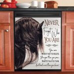 Horse Never Forget Who You Are Dishwasher Cover Sticker Kitchen Decor