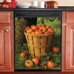 Harvest Of Apple Basket Dishwasher Cover Sticker Kitchen Decor