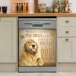 Golden Retriever Nothing Make You Smile Than Looking To The Face Of A Dog Dishwasher Cover Sticker Kitchen Decor
