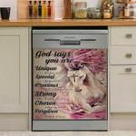 God Says You Are Unique Chosen Horse Dishwasher Cover Sticker Kitchen Decor