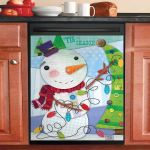 Holiday Whimsy Snowman Dishwasher Cover Sticker Kitchen Decor
