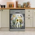 Hummingbird Bless This Home And All Who Enter Dishwasher Cover Sticker Kitchen Decor