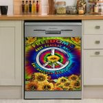 Hippie Peace Justice Freedom Liberty Nothing Left To Lose Sunflower Dishwasher Cover Sticker Kitchen Decor