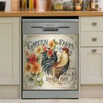 Garden Farm Dishwasher Cover Sticker Kitchen Decor