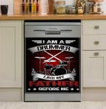 I Am A Drummer Like My Father Before Me Dishwasher Cover Sticker Kitchen Decor