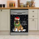 French Bulldog Wreath Neckle Christmas Pattern Dishwasher Cover Sticker Kitchen Decor