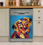 Labrador Love Dishwasher Cover Sticker Kitchen Decor