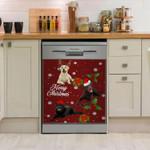 Labrador Retriever Merry Christmas Dishwasher Cover Sticker Kitchen Decor