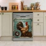 Gold Rooster Coffee Company Dishwasher Cover Sticker Kitchen Decor