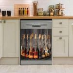 Guitar Guitar Bass Dishwasher Cover Sticker Kitchen Decor