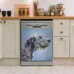 Irish Wolfhound Snow Dishwasher Cover Sticker Kitchen Decor