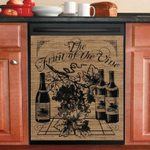 Farmhouse Wine Dishwasher Cover Sticker Kitchen Decor