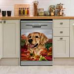 Golden Retriever Garden Dishwasher Cover Sticker Kitchen Decor
