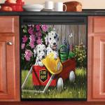 Fire Waggin Dalmatian Dogs Dishwasher Cover Sticker Kitchen Decor