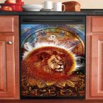 Leo Zodiac Dishwasher Cover Sticker Kitchen Decor