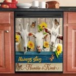 Goat Always Stay Humble And Kind Dishwasher Cover Sticker Kitchen Decor