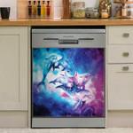 Galaxy Dolphins Dishwasher Cover Sticker Kitchen Decor