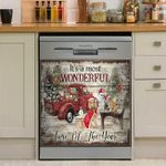 It Is A Most Wonderful Time Of The Year Dogs Christmas Dishwasher Cover Sticker Kitchen Decor