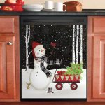 Joy Snowman Dishwasher Cover Sticker Kitchen Decor