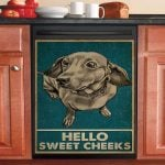 Hello Sweet Cheeks Dachshund Dishwasher Cover Sticker Kitchen Decor