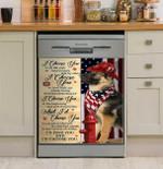 Firefighter German Shepherd I Choose You Dishwasher Cover Sticker Kitchen Decor