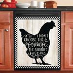I Didn't Choose The Farmlife Farmhouse Chicken Silhouette Dishwasher Cover Sticker Kitchen Decor