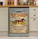 Horse Daughter How Special You Are To Me Dishwasher Cover Sticker Kitchen Decor