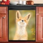 Fox In Garden Cute Pattern Dishwasher Cover Sticker Kitchen Decor