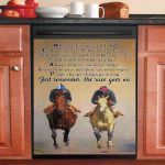 Just Remember The Race Goes On Horse Riders Dishwasher Cover Sticker Kitchen Decor