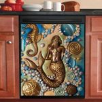 Golden Mermaid Dishwasher Cover Sticker Kitchen Decor