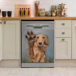 Golden Retriever And His Spaw Dishwasher Cover Sticker Kitchen Decor