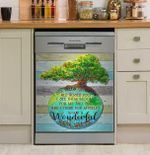 Hippie And I Think For Myself What A Wonderful World Dishwasher Cover Sticker Kitchen Decor