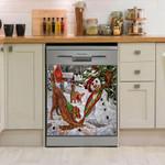 Gordon Setter Christmas Pattern Dishwasher Cover Sticker Kitchen Decor