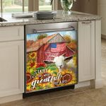 Goat Start Each Day With A Grateful Heart Dishwasher Cover Sticker Kitchen Decor