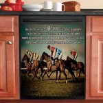 Just Remember The Hust Goes On Horse Racing Dishwasher Cover Sticker Kitchen Decor