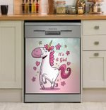 It's A Girl Unicorn Dishwasher Cover Sticker Kitchen Decor