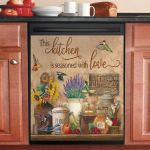 Farmhouse Kitchen And Hummingbird This Kitchen Is Seasoned With Love Dishwasher Cover Sticker Kitchen Decor