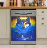 Fox Spirit Garden Rainbow Dishwasher Cover Sticker Kitchen Decor