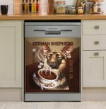 German Sherpherd Coffee Dishwasher Cover Sticker Kitchen Decor