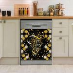Happy New Year Colorful Pattern Dishwasher Cover Sticker Kitchen Decor