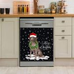 German Shorthaired Pointer Wreath Neckle Christmas Pattern Dishwasher Cover Sticker Kitchen Decor
