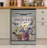 Hippie Live An Inspired Life Dishwasher Cover Sticker Kitchen Decor