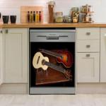 Guitar Dual Ukulele Dishwasher Cover Sticker Kitchen Decor